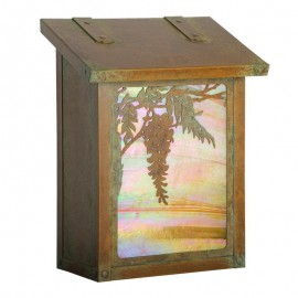Wisteria Flower Vertical Wall Mount Mailbox