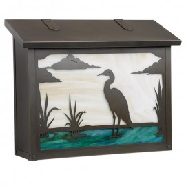 Blue Heron Large Vertical Mailbox