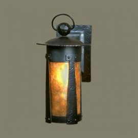 1900 Lantern Wall Sconces Mica Lamp