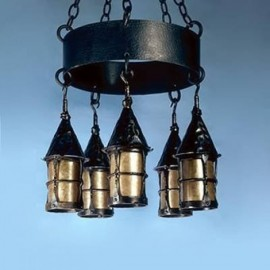 LF199 Cottage Chandelier Mica Lamps