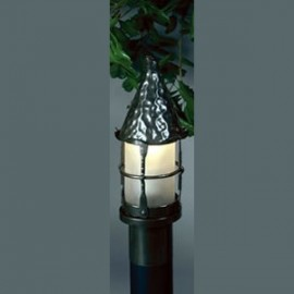 LF201Q Cottage Post Lantern Mica Lamps