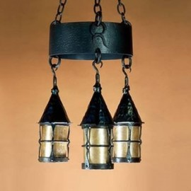 LF202 Cottage Chandelier Mica Lamp