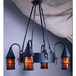 LF203 Cottage Chandelier Mica Lamp