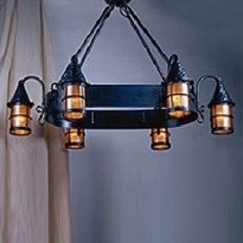 LF203/6 Cottage Chandelier Mica Lamp