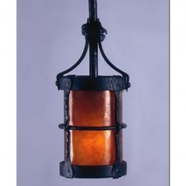 LF204P Manor 3 Hook Pendant Mica Lamps