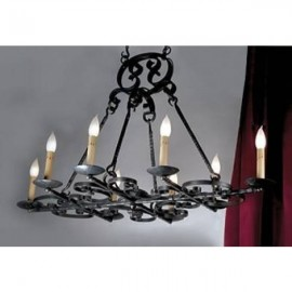 LF521 Burgandy Chandelier
