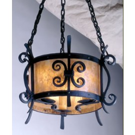 LF523 Rancho Chandelier Mica Lamp