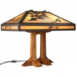 612-72-LB Limbert Double Pedestal Table Lamp