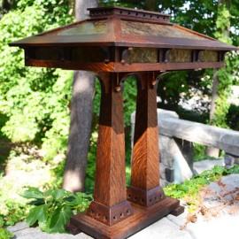 Craftsman Double Pedestal Table Lamp