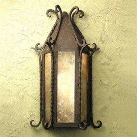 SB33 Seville Flush Wall Sconce Mica Lamp