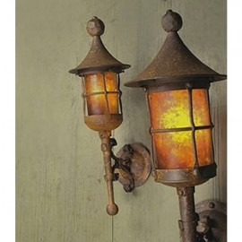 SB80 Fantasy Small Wall Torch Mica Lamp
