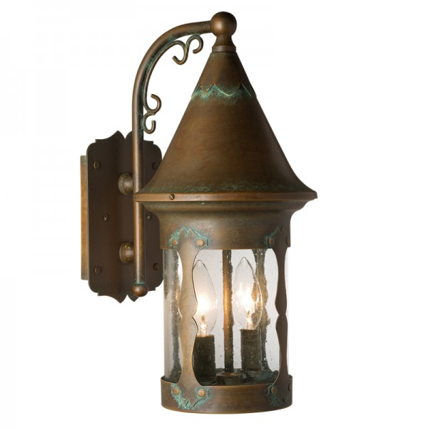 Candle Base Castle Hill Fixed Arm Wall Sconce