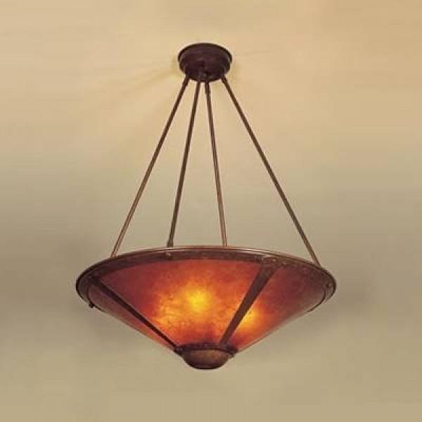 Craftsman Mesa Chandeliers Mica Lamp