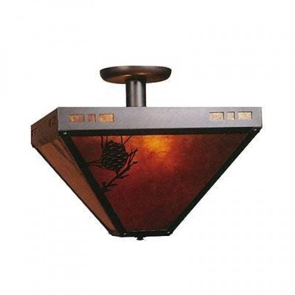 112 Craftsman Drop Ceiling Mica Lamp