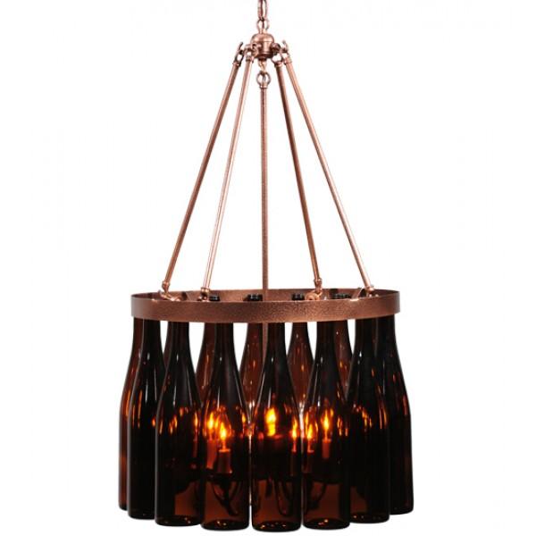 114513 Meyda Copper Finished Wine Bottle Chandelier