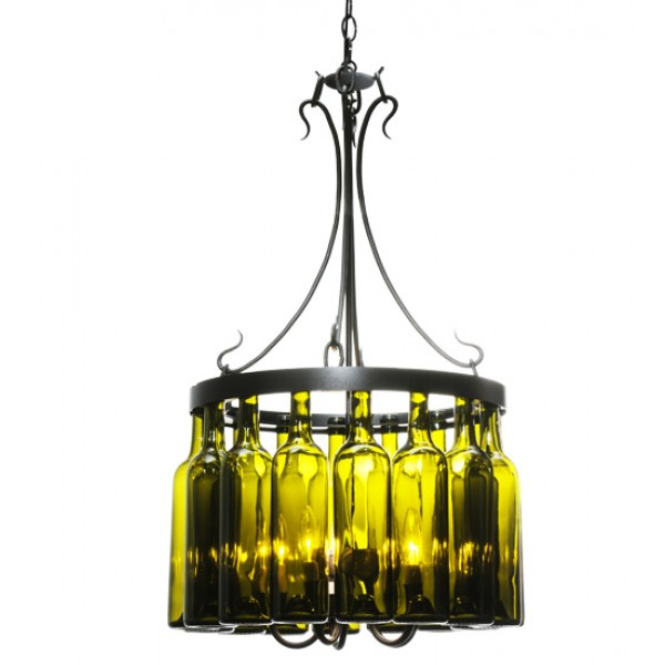 114514 Tuscan Vineyard Villa Wine Bottle Chandelier