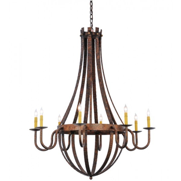 "129824 42""W Barrel Stave Madera 8 Chandelier"