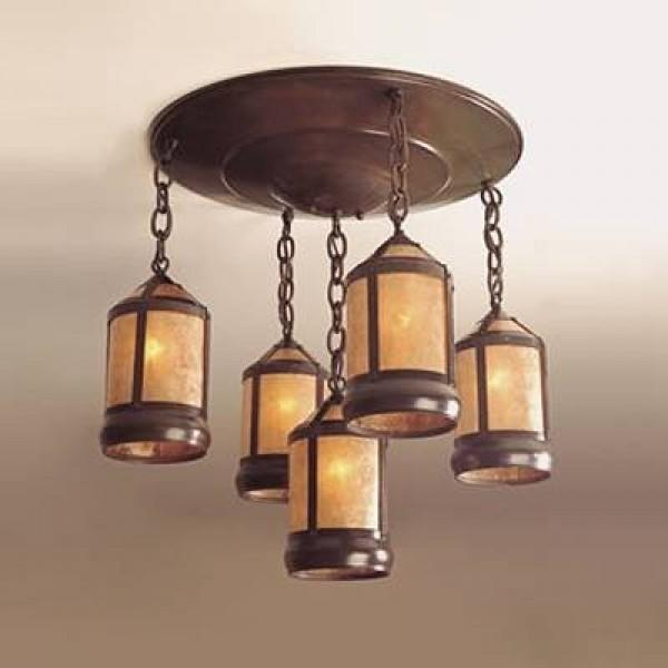 135 Medallion Chandelier Mica Lamp