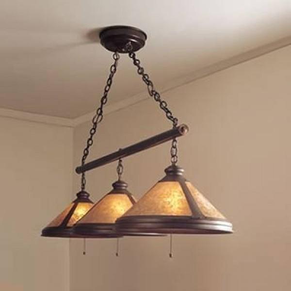 Craftsman 136/3S Billiard Light Mica Lamp