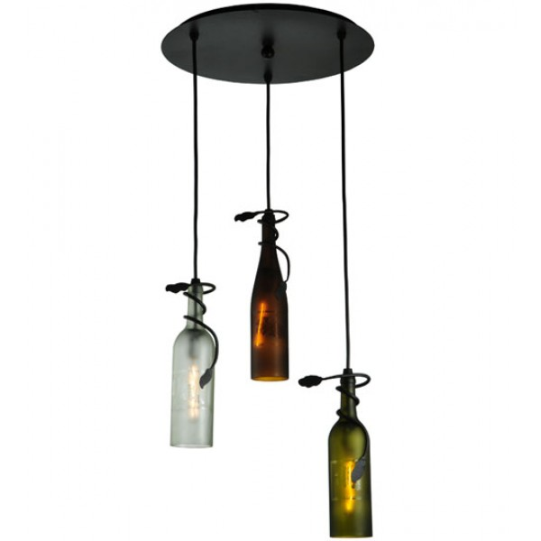 136534 Wine Bottle Multi Color Wine Bottle Pendants