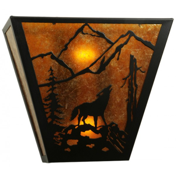 137516 Wolf Northwoods Wall Sconce Meyda Lighting