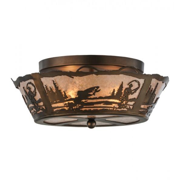 170968 Fly Fishing Flushmount Drop Ceiling Light Meyda Lighting