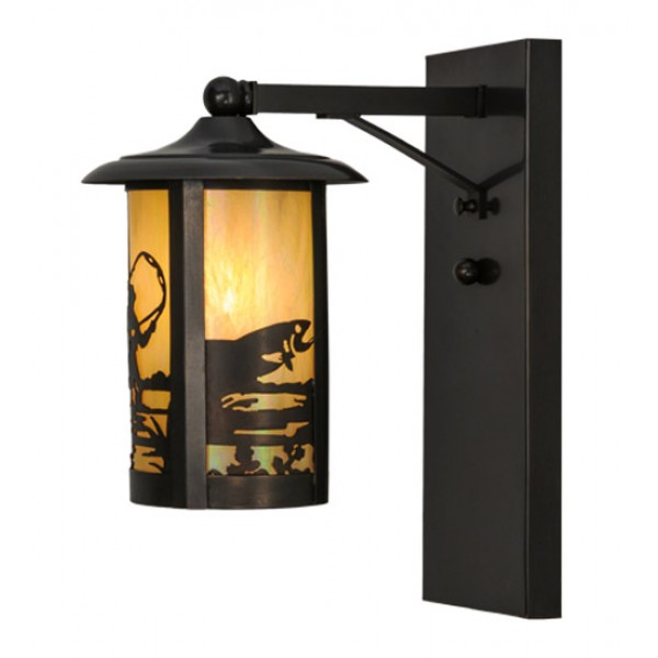 150580 Fly Fishing Solid Wall Sconce