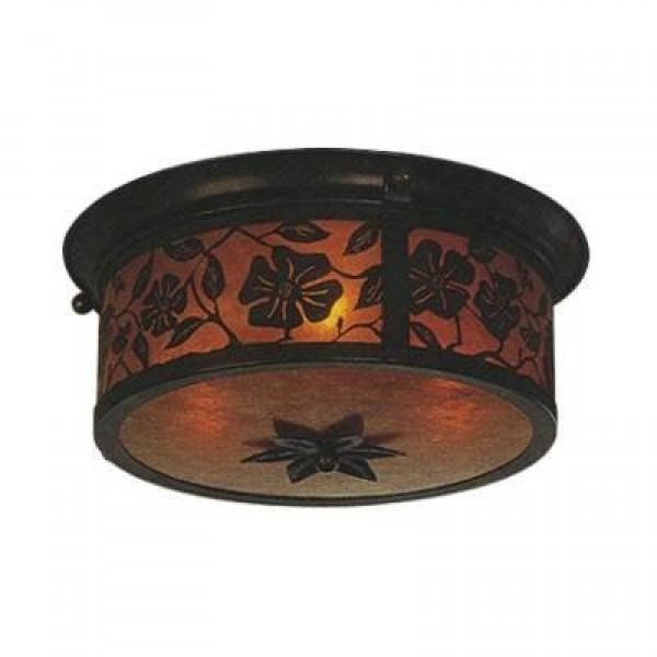 """152 Lantera 20"""" Ceiling Mount Mica Lamp"""
