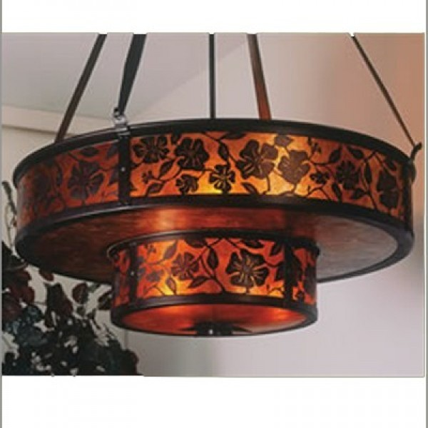 155 Lantera Double Grand Chandelier Mica Lamp