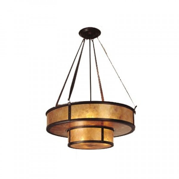 155NF Lantera Double Grand Chandelier Mica Lamp