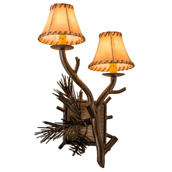 161370 Lone Pine Double Right Wall Sconce