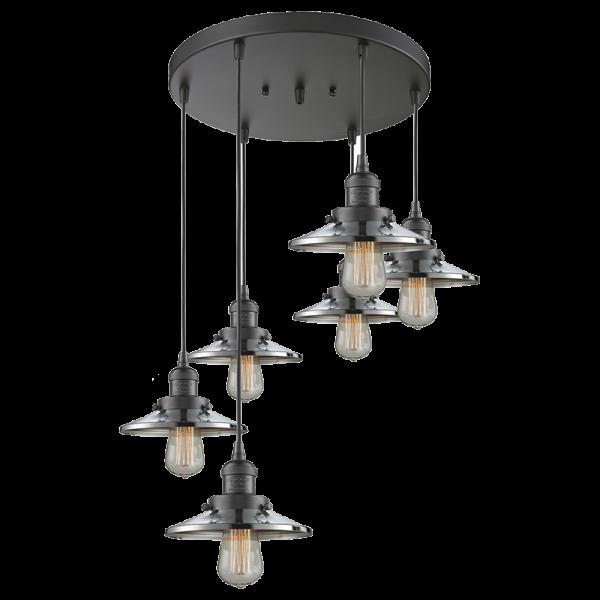 Railroad 6 Light Pendant Innovations Lighting