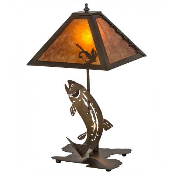32532 Leaping Trout Table Lamp Meyda