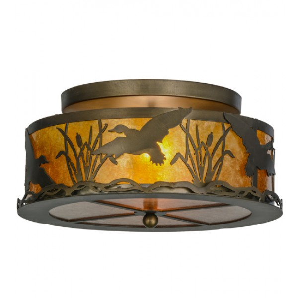 51239 Ducks in Flight Flushmount Drop Ceiling Light