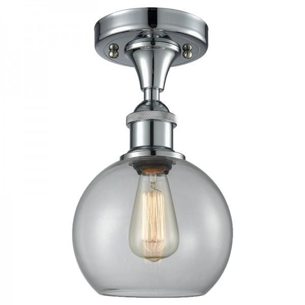 516-1C Glass Light Athens Flush Mount