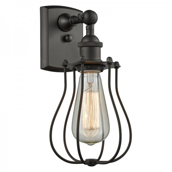 516-1W-513 Industrial Cage Light Wall Sconce