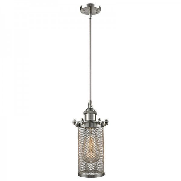 516-1S-220 Industrial Cage Light Bleecker Stem Pendant Innovations