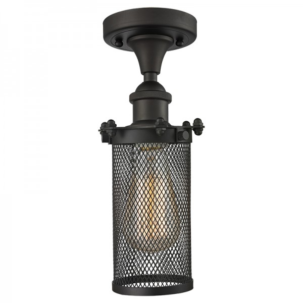 516-1C-220 Industrial Cage Light Drop Ceiling Bleecker