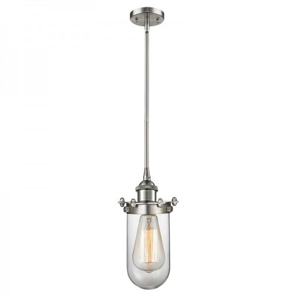 516-1S-232 Industrial Glass Light Kingsbury Stem Pendant