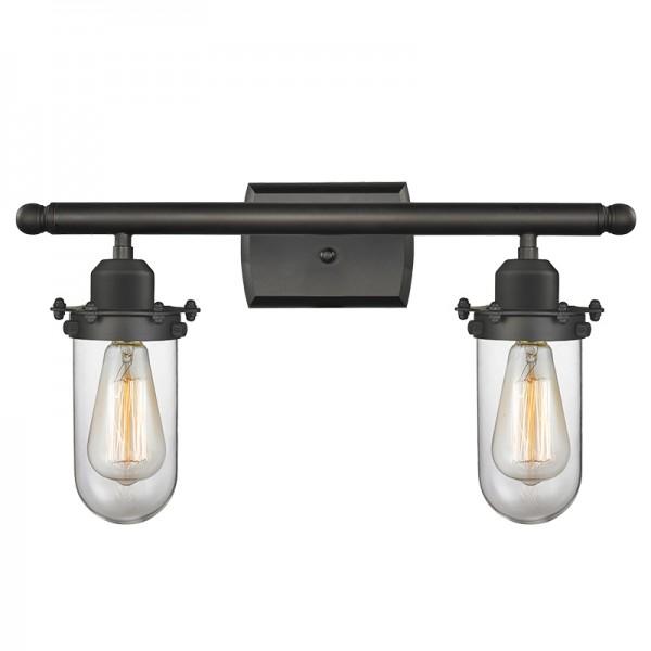 516-2W-232 Industrial Glass Kingsbury 2 Light Wall Sconce