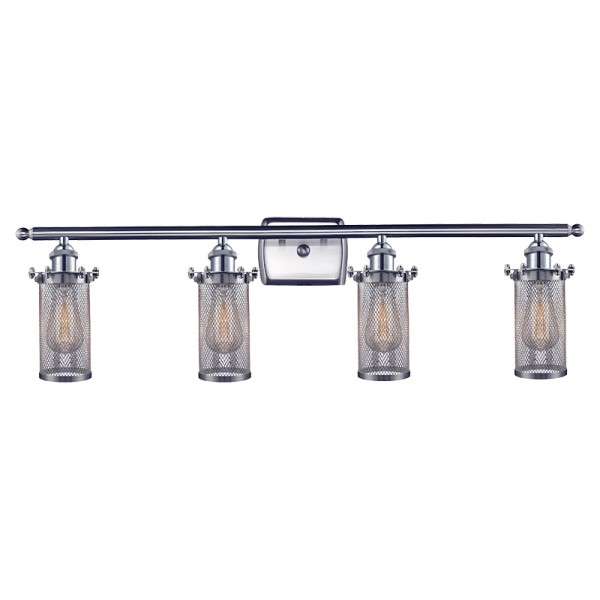 Industrial Cage 4 Light Bleecker Wall Sconce