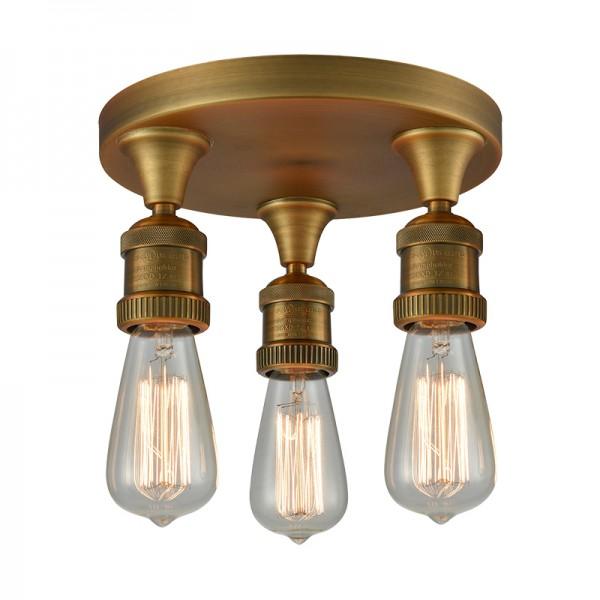 562 Bare Bulb 3 Light Pan Semi-Flush Ceiling Mount Innovations