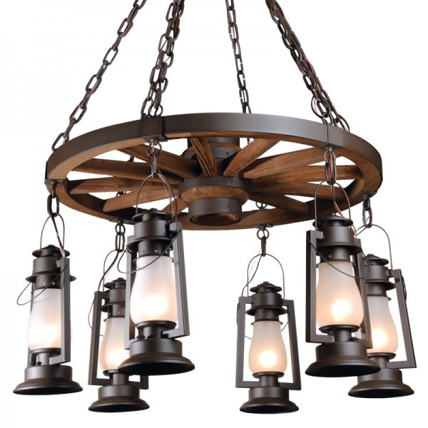 772S-46 Wagon Wheel Chandelier