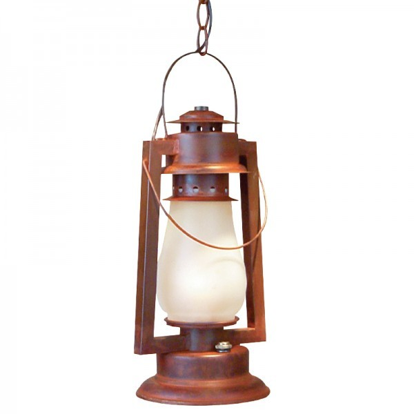 772-S-4 Pioneer Chain Mount Rustic Lantern
