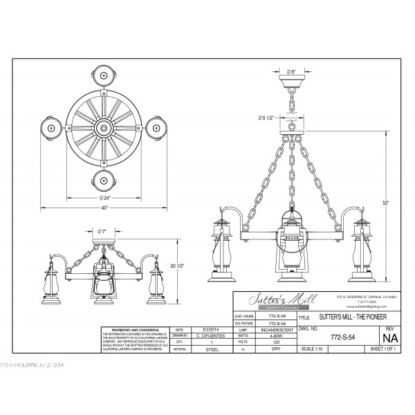 772S-54 Pioneer Wagon Wheel