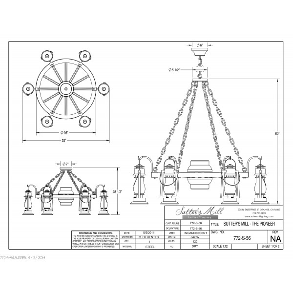 772S-56 Pioneer Wagon Wheel