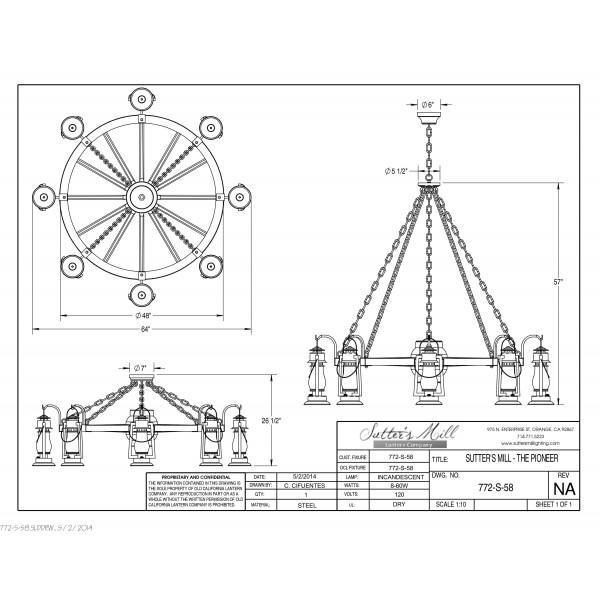 772S-58 Pioneer Wagon Wheel