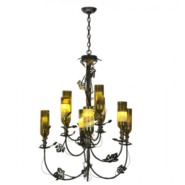 Tuscan Vineyard Arm 82695 Wine Bottle Chandelier