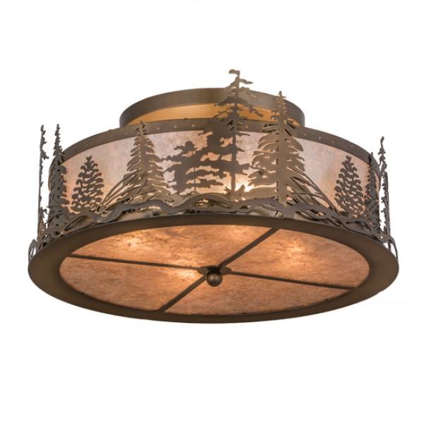 98918 Tall Pines Flushmount Meyda Lighting