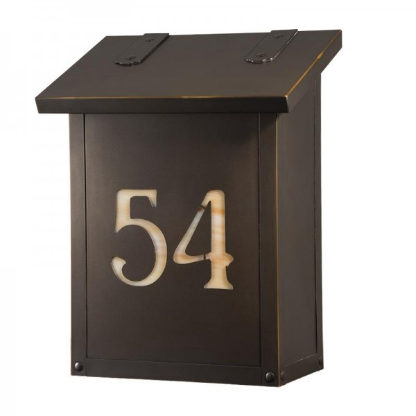 Classic Vertical House Number Mailbox